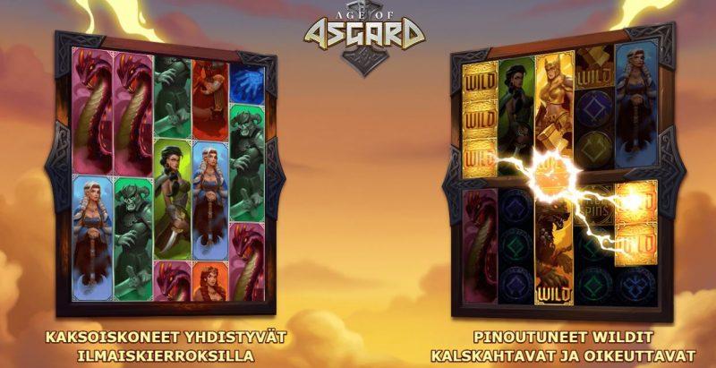 Age of Asgard erikoistoiminnot
