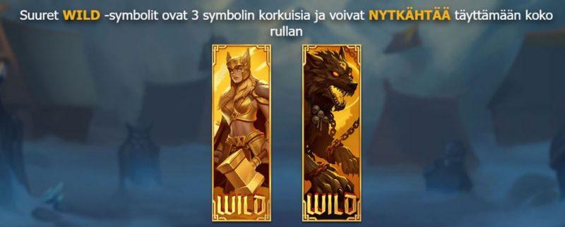 Age of Asgard wild symbolit