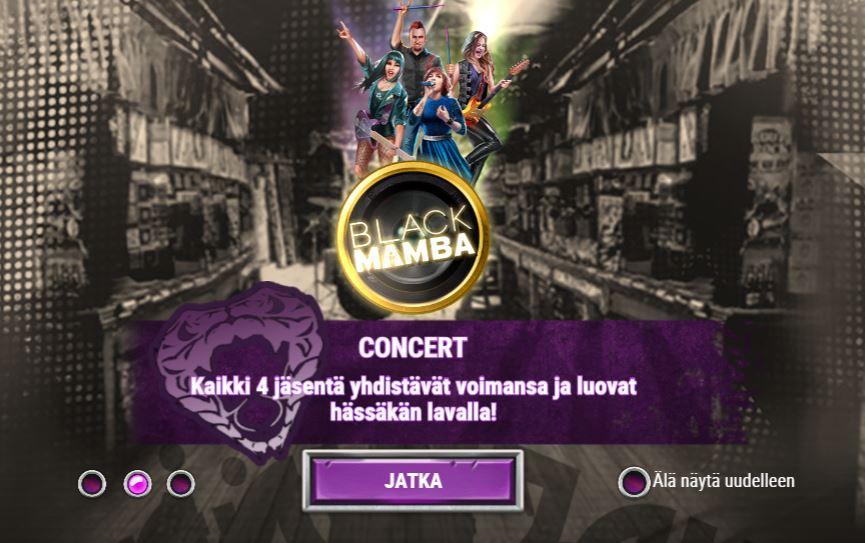 Black Mamba concert-toiminto