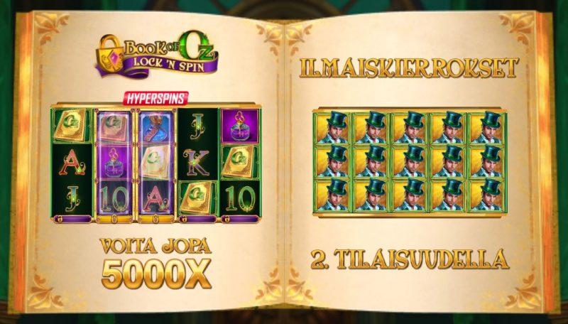 Book of Oz Lock n spin erikoitoiminnot