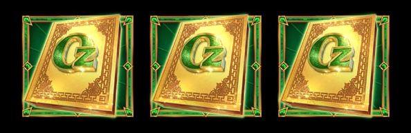 Book of Oz Lock n spin scatter symboli
