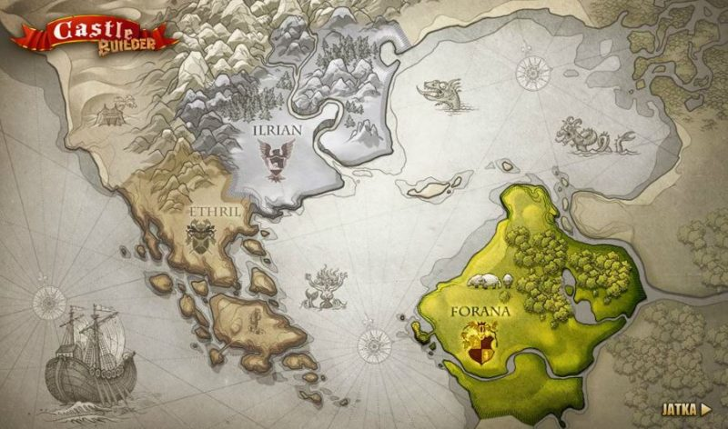 Castle Builder kolikkopeli kartta