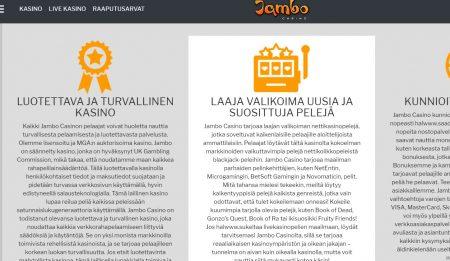 Jambo Casino periaatteet