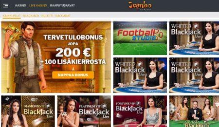 Jambo casino livepelit