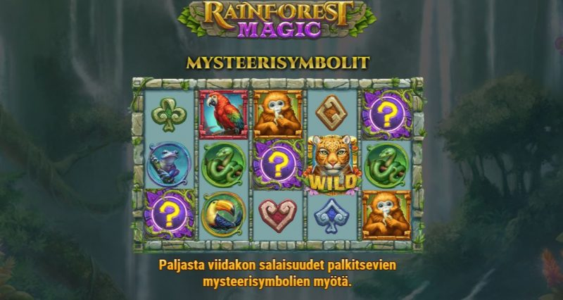 Rainforest Magic mysteerisymbolit