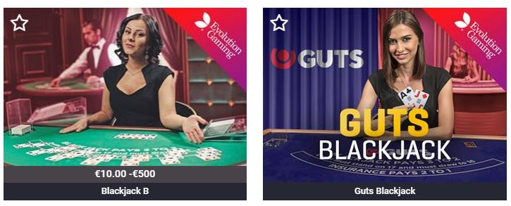 Blackjack pelit