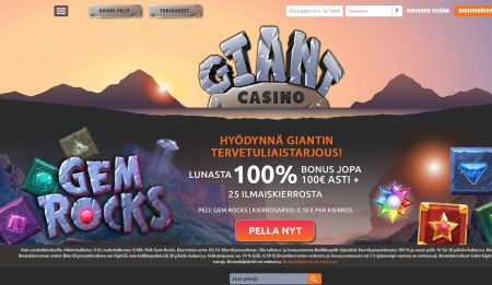 Giant Casino etusivu