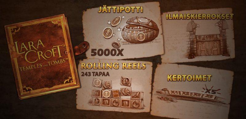 Lara Croft kolikkopelin erikoistoiminnot