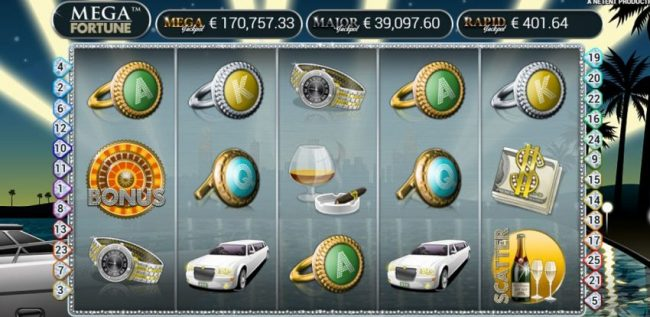Mega Fortune jackpot peli