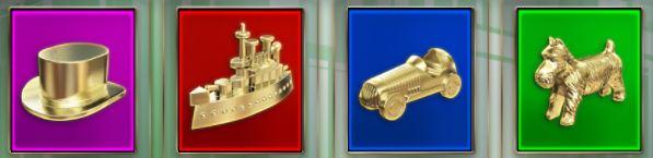 Monopoly Megaways korkeat symbolit