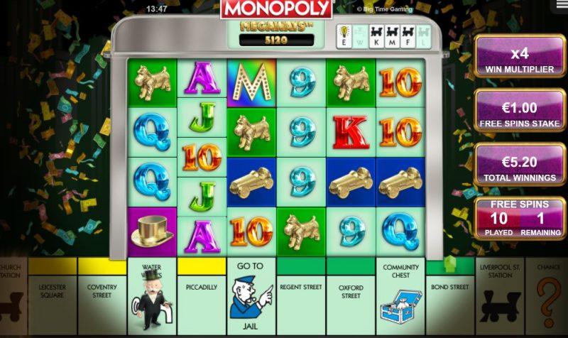 Monopoly megaways ilmaiskierrokset käynnissä