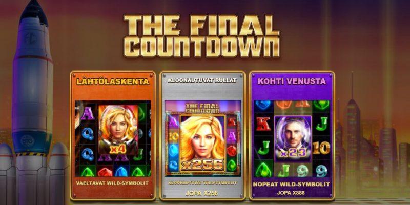 The Final Countdown erikoistoiminnot