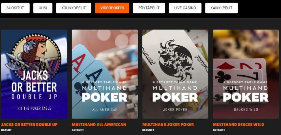 Nitro Casino videopokeri