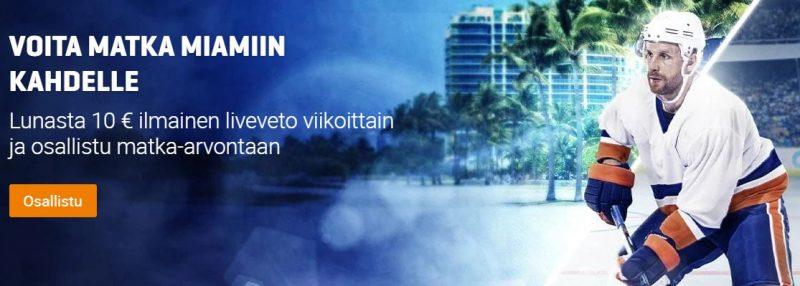 NordicBet voita matka Miamiin