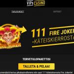 VIPs Casinolta 111 käteiskierrosta ja 10 % viikoittainen cashback