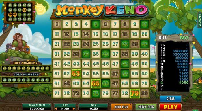 Monkey Keno maksut