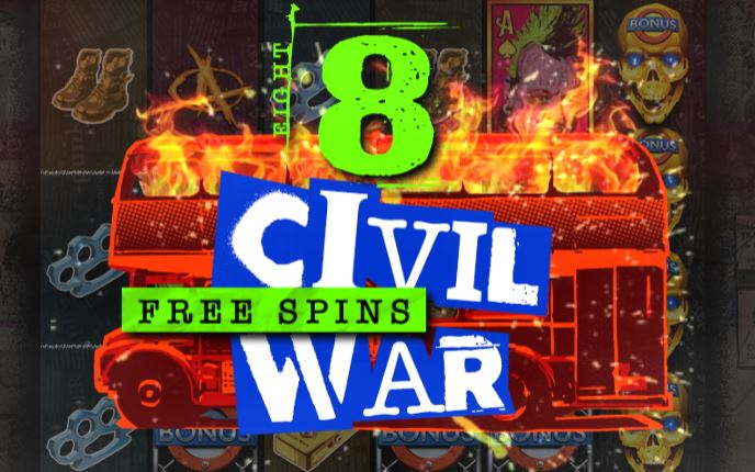 Punk Rocker civil war free spins
