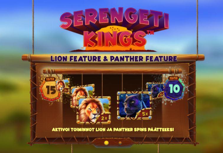Serengeti kings leijona ja pantteri