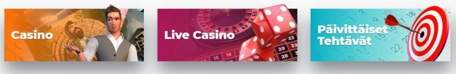 Boss casino pelityypit