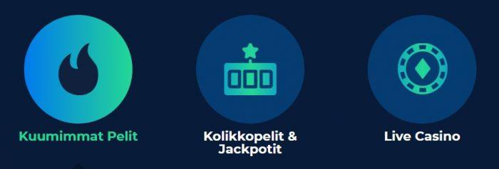 Casino Planet pelikategoriat