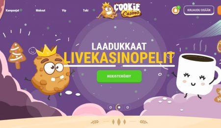 Cookie Casino etusivu