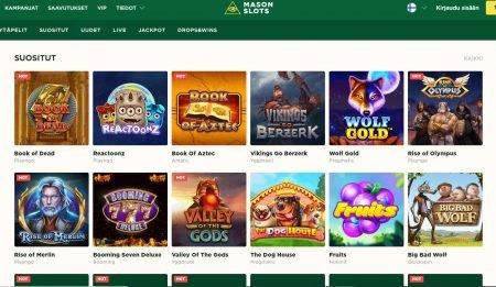 Mason Slots Casino pelivalikoima