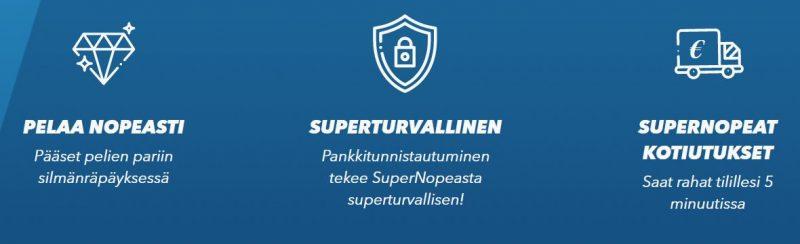 SuperNopea pelaa nopeasti