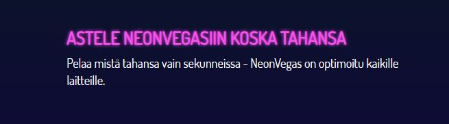 Neon Vegas mobiili