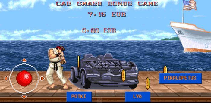 Street fighter 2 bonuspeli