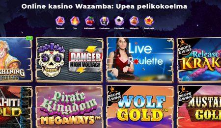 Wazamba casino pelit