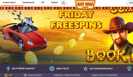 Slot Wolf Casino Perjantain ilmaiskierrokset