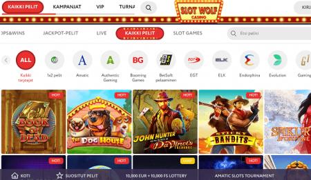 Slot Wolf Casinon pelivalikoima