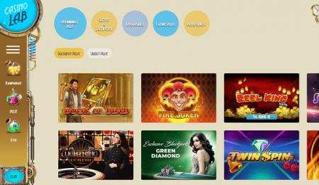 Casinolab pelivalikoima