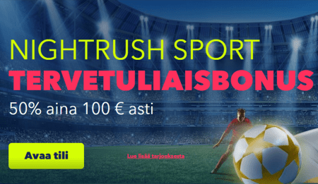 Nightrush Casino bonus