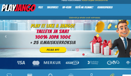 Play Jango Casino bonus