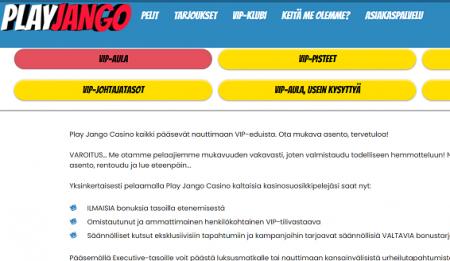 Play Jango Casino vip-ohjelma