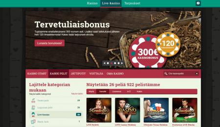 Suomi Kasino pelit
