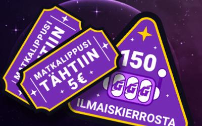 Galaksinolta 5 € ilmaista pelirahaa + 150 käteiskierrosta