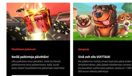 Ultra Casino kampanjat