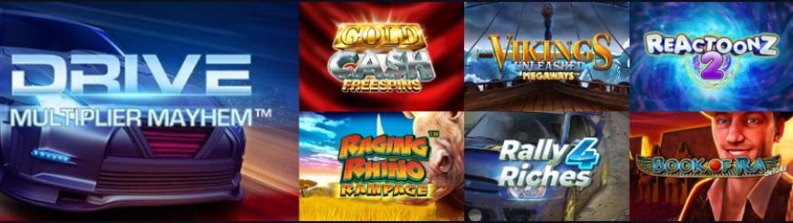 Race Casino kolikkopelit