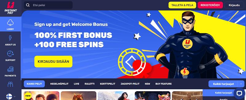 InstantPay Casino bonus