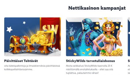 Sticky Wilds Casino kampanjat
