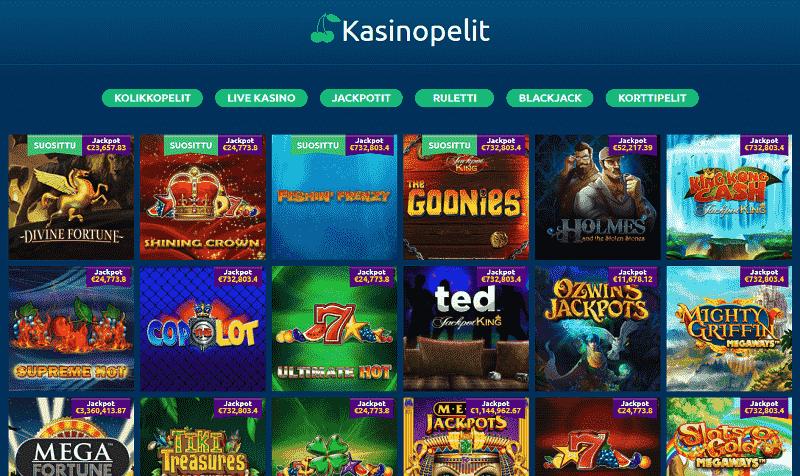 Turbonino Casino pelivalikoima