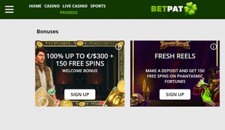 Betpat Casino tarjoukset