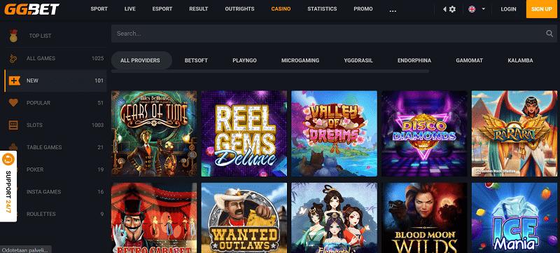 GGBet Casino kasinopelit