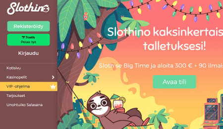 Slothino Casino bonus