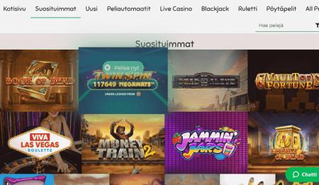 Slothino Casino pelivalikoima