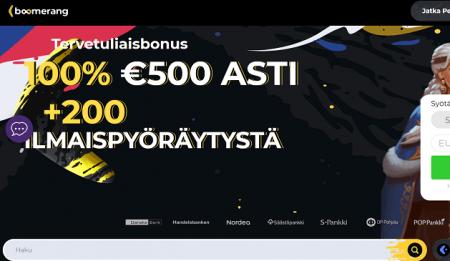 Boomerang Casino bonus