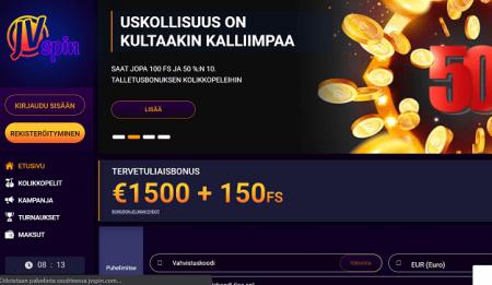 JVSPins Casino etusivu