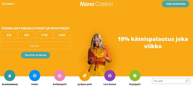 Nano Casino bonus